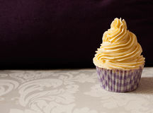 Lovely cupcake in purple Stock Image