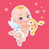 Lovely Cupid with bow Royalty Free Stock Image