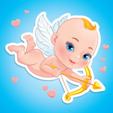 Lovely Cupid with bow Stock Image