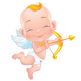Lovely Cupid with bow Stock Photography