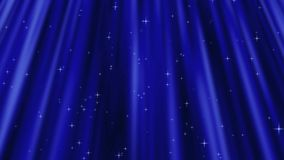 The lovely curtain. With star design stock video