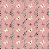Lovely cute butterfly seamless vector pattern background Royalty Free Stock Photography