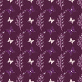 Lovely cute butterfly seamless vector pattern background Stock Photography
