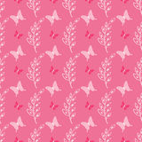 Lovely cute butterfly seamless vector pattern Stock Image