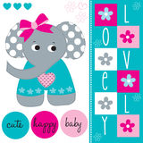 Lovely cute elephant baby vector Royalty Free Stock Photography