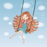 Lovely cute girl. royalty free illustration
