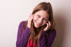 Lovely cute teen girl Royalty Free Stock Image