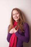 Lovely cute teen girl. Portrait of a lovely cute teen girl Royalty Free Stock Photo