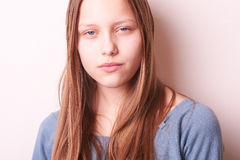 Lovely cute teen girl. Portrait of a lovely cute teen girl Royalty Free Stock Image