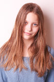 Lovely cute teen girl. Portrait of a lovely cute teen girl royalty free stock images