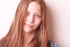 Lovely cute teen girl Stock Photos