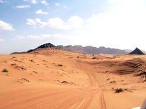 Lovely desert. The lush brown desert of middle east royalty free stock photo