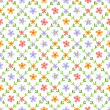 Seamless pattern with multicolored flowers Royalty Free Stock Images