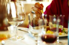 Lovely Dinner Royalty Free Stock Photo