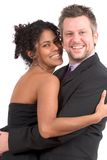 Lovely diverse couple stock image