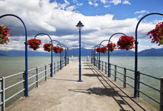 Lovely Dock in the city of Morges. Switzerland Royalty Free Stock Photo
