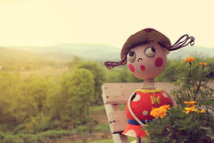 Lovely doll in pai north of thailand vintage light Stock Photo