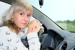 The lovely driver Royalty Free Stock Photo