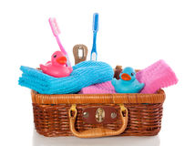 Lovely  ducks and toothbrushes Stock Image