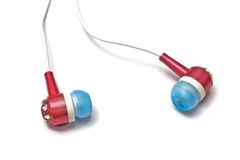 Lovely earphones Royalty Free Stock Images