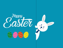 Lovely easter bunnies set. Concept easter illustration. Vector  Royalty Free Stock Photography