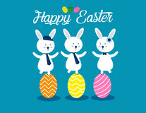 Lovely easter bunnies set. Concept easter illustration. Vector  Stock Photos