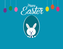 Lovely easter bunnies set. Concept easter illustration. Vector  Royalty Free Stock Images