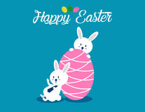 Lovely easter bunnies set. Concept easter illustration. Vector  Stock Photography