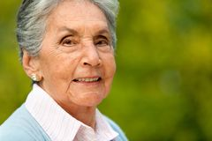 Lovely elder woman Royalty Free Stock Images