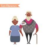 Lovely elderly couple Royalty Free Stock Photo