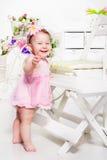 Emotional toddler girl Stock Photo