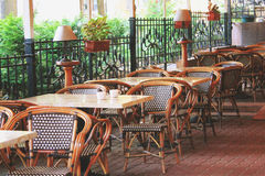 Lovely European Cafe Stock Images