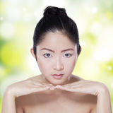 Lovely face of girl with fresh skin Royalty Free Stock Photos