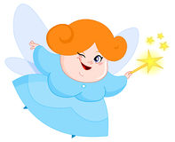 Lovely fairy. Illustration of a lovely fairy Royalty Free Stock Image