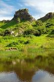The lovely Fairy Glen, Scotland. The lovely Fairy Glen on the Isle of Skye in Scotland Royalty Free Stock Image