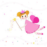 Lovely fairy with stars vector background Stock Photos