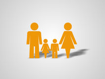 Lovely family 1 Stock Image