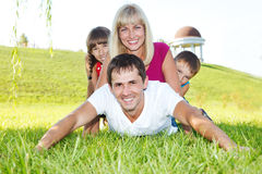 Lovely family Royalty Free Stock Photos