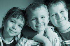 Lovely family. Sister and brothers stock images