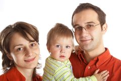 Lovely Family with baby Royalty Free Stock Photos