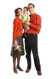Lovely Family with baby Stock Photography
