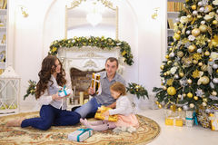 Lovely family holiday within Temptation exchange gifts in large Stock Image