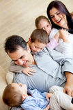 Lovely family at home Stock Photo