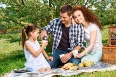 Lovely family picnic in the park Stock Photo