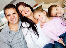 Lovely family portrait Stock Photos