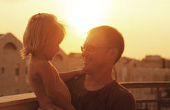 Lovely father and daughter Stock Photography
