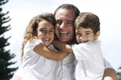 Lovely father and kids Stock Image