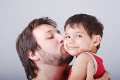 Lovely father with son Royalty Free Stock Photos