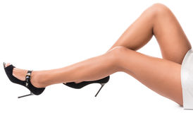 Lovely female legs Stock Photography