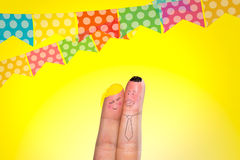 Lovely fingers for June Brazilian Festival Royalty Free Stock Photo